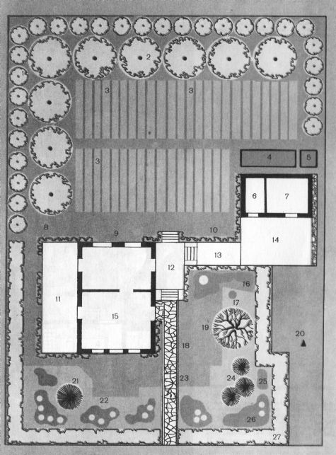 Схема загородного участка