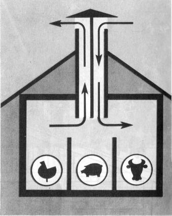 Схема вентиляции в помещении