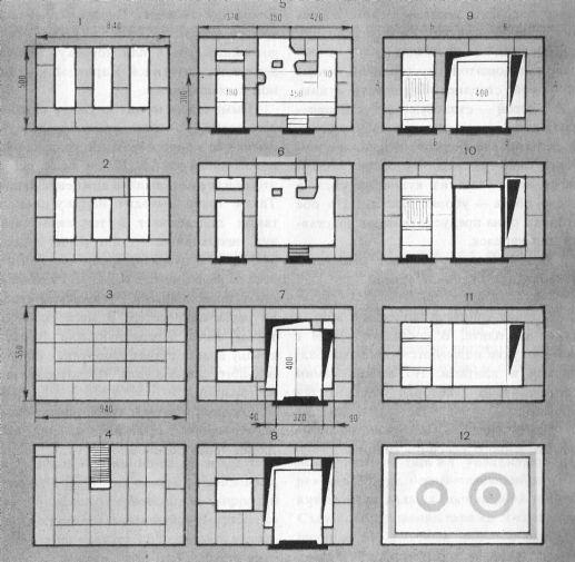 Рис. 47 Схема кладки рядков