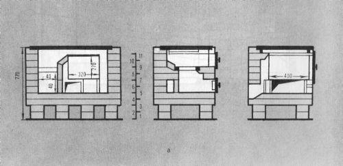 Схема кладки рядков плиты (вид