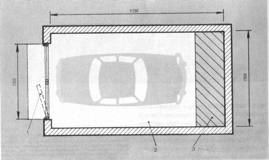 Гараж на 4 машины планировка