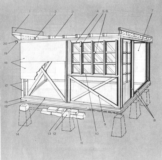 Постройка облегченной конструкции для мастерской