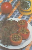 Блюдо с использованием консервированного зеленого горошка